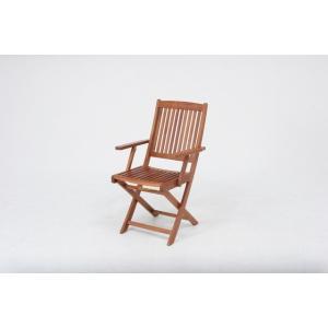 ガーデンチェアー/木製/チェアー/椅子/肘付/バルコニー|hypnos
