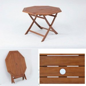 ガーデン テーブル 八角テーブル 木製 庭 ガーデンテーブル|hypnos