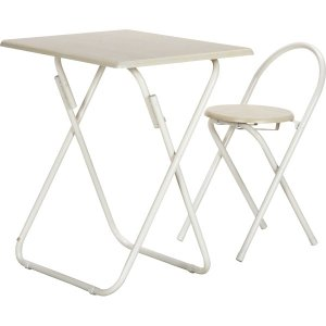 折りたたみイス テーブルセット 腰掛け 折りたたみテーブル テーブル&チェアーセット WH/WH  YS−7050U WH/WH|hypnos