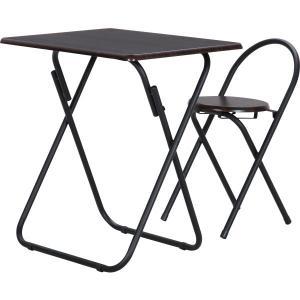 テーブル&チェアーセット BR/BK YS−7050U テーブル 折りたたみ チェア セット|hypnos