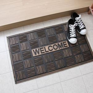 玄関マット 屋外 おしゃれ エントランスマット ウェルカムマット ドアマット ベランダ 北欧 ラバーマット ウェルカム|hypnos