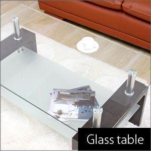 ガラステーブル/センターテーブル【新生活応援】【1人暮らし】|hypnos