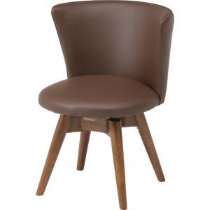 ダイニングチェア 回転 ブラウン 椅子 いす イス チェアー hypnos