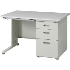 机 つくえ デスク 事務机 片袖デスク 110幅 オフィスデスク ホワイト 白|hypnos
