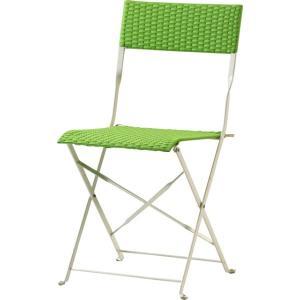 ガーデンチェアー/ガーデンファニチャー/チェアー/いす/椅子 ガーデンフォールディングチェア GR グリーン|hypnos