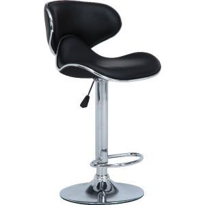 バーチェア カウンターチェア シェル BK ブラック ガス圧昇降式 おしゃれ いす イス 椅子 チェアー チェア hypnos