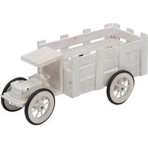 プランター フラワースタンド 花台 木製トラック ガーデン 小物入れ 雑貨 ディスプレイ|hypnos
