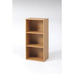 マガジンラック/本棚 カラーボックス 3段 本棚 書棚 かわいい ラック シンプル|hypnos
