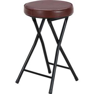 いす 椅子 イス パイプイス 折り畳み 折りたたみイス スツール ブラック ブラウン|hypnos