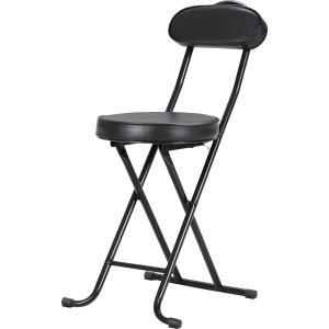 折りたたみチェアー パイプチェア 椅子 スリムチェアー パイプイス いす イス ブラック 折りたたみ hypnos