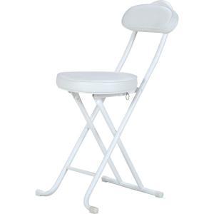 折りたたみチェアー/パイプチェア/椅子/スリムチェアー WH/WH ホワイト 白|hypnos