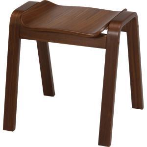 曲木スツール ハイ CF−406V ウォルナット BR スタッキングスツール 腰掛け チェアー イス 椅子 いす 木製 シンプル hypnos
