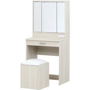 ドレッサー ドレッサーセット 三面鏡 スツール付き WH ホワイト ドレッサーチェア セット 化粧台 鏡台 椅子 イス|hypnos