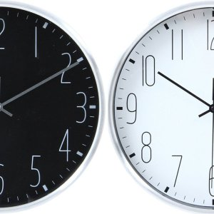 時計 掛時計 おしゃれ ウォールクロック クロック 壁掛け 掛け時計 カフェ 店舗 シンプル リビング 新築祝い 結婚祝い ギフト  ブラック ホワイト 25cm|hypnos