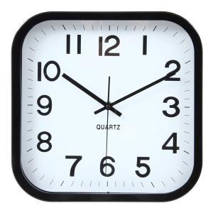 掛け時計 ウォールクロック 掛け時計 時計 クロック レトロ ブラック ホワイト おしゃれな インテリア 壁掛け時計 四角|hypnos