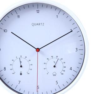 時計 おしゃれ デザインウォールクロック アンティーク デザイナーズクロック 掛時計温湿度計付 壁掛け 掛け時計 カフェ 店舗 φ25cm|hypnos