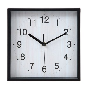 壁掛け時計 掛時計 24cm ウォールクロック デザインウォールクロック おしゃれ時計 掛け時計 時計 とけい クロック シンプル 四角|hypnos