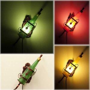 ウォールランプ ワインボトル アンティーク調 照明 おしゃれ ランプ 間接照明 ヨーロピアン LED電球付|hypnos