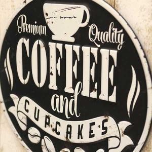 エンボスプレート アンティーク Coffee Black 業務看板 店舗 自室 待合室 休憩 壁掛け レトロ調 Antique Emboss Plate|hypnos