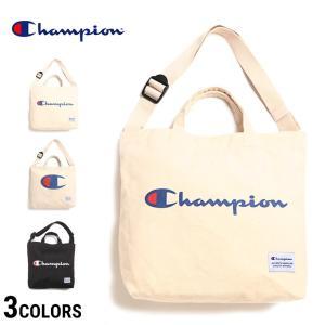 857641c95ea1 チャンピオン バッグ Champion ショルダーバッグ キャンバス地 2WAY ロゴプリント 持ち手付き 55563