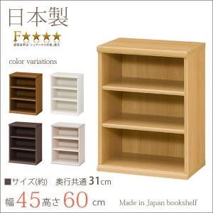 本棚 エースラック カラーラック おしゃれ 日本製 書棚 約幅45 奥行30 高さ60cm キッズ デスク下収納 小型 ミニ 子供 本箱 シェルフ 棚 ラック 本箱|i-11myroom