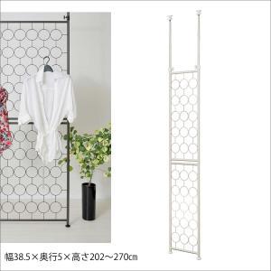 パーテーション 間仕切り アンティーク風 パーテーション 突っ張り DS34 つっぱり棒 パーティション 壁面収納 HARUHARU 足立製作所/日本製 組立品|i-11myroom