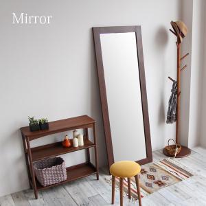 ミラー 姿見 スタンドミラー おしゃれ ウォールミラー 全身 鏡 木製 ウォールナット 幅620 高さ170 cm 北欧 風 デザイン|i-11myroom