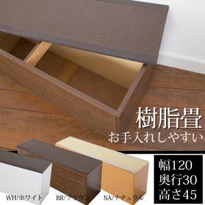 畳 ユニット ベンチ 収納 ボックス 日本製 たたみ タタミ 箱 PP樹脂製 幅120 奥行30 高さ45cm ナチュラル ブラウン 小上がり リビング 和室 和風 アジアン|i-11myroom