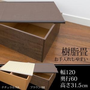 畳 ユニット ベンチ 収納 ボックス 日本製 たたみ タタミ PP樹脂 幅120 奥行60 約高さ32cm ロータイプ ナチュラル ブラウン 小上り リビング ベッド 和室 和風|i-11myroom