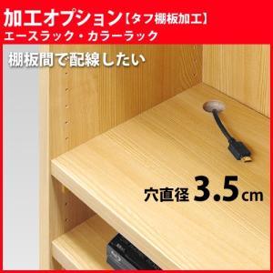 エースラック カラーラック 加工オプション タフ棚板穴加工 棚板1枚分|i-11myroom