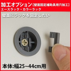 エースラック カラーラック 加工オプション 壁面固定補助具用穴加工 【幅】25-44cm用 1台分|i-11myroom
