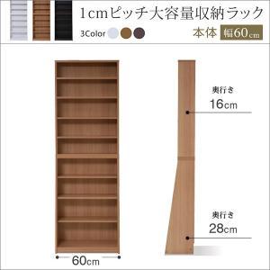 本棚 薄型 スリム 1cmピッチラック 大容量 幅60cm (コミック 文庫 漫画 収納 ブックラック ブックシェルフ CDラック DVDラック 本棚 通販)|i-11myroom