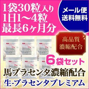 生プラセンタプレミアム6袋セット 馬プラセンタ配合サプリメン...