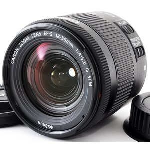 標準レンズ 新品未使用 保証 CANON キヤノン EF-S 18-55mm F4-5.6 IS S...