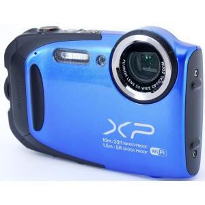 デジカメ 中古 Wi-Fi搭載 FUJIFILM 富士フイルム FinePix XP70 ブルー