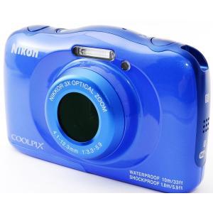 デジタルカメラ 防水 Wi-Fi搭載 Nikon ニコン COOLPIX W100 ブルー