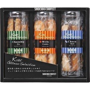 ●ミルククッキー12枚×1、チョコチップパイ4本×1、チョコロール5本×1 ●箱サイズ:約18.5×...