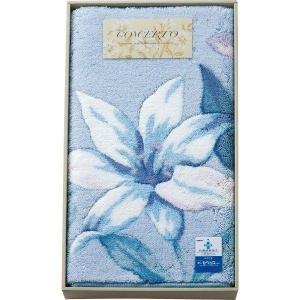 日本製 ノーブル 大判玄関マット ブルー ベージュ 19-7623-035/043a3-10 花柄 ギフト プレゼント|i-chie
