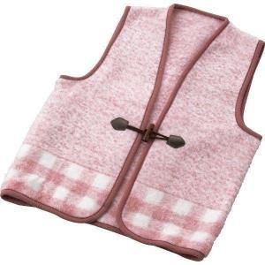 日本製 ジャカード織アクリルベスト ピンク グレー WAB−301 冬 冷え オフィス|i-chie