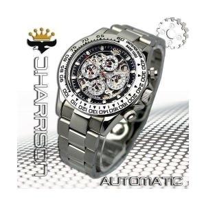 機械式多機能両面スケルトン時計J.H-003SB メンズ 腕時計|i-chie