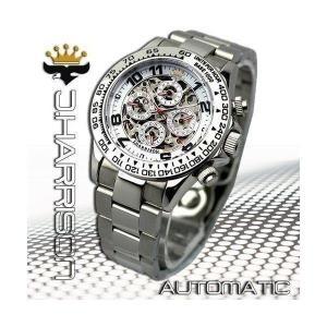機械式多機能両面スケルトン時計J.H-003SW メンズ 腕時計|i-chie
