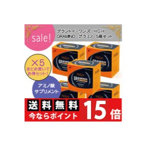 H.G.H/GRAMINO/エイチ・ジー・エイチ/グラミノ(13g×20袋)2箱入り×5箱セット