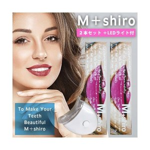 M+shiro ましろ Buggy design 2 ボトルタイプ 30g×2本 LEDセット ホワイトニング歯磨きジェル Ultimate Mint 限定デザイン|i-chie