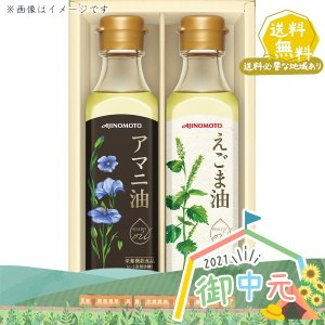 お中元 御中元 味の素 えごま油&アマニ油ギフト EGA−20R 食用油 食品 ギフト セット 詰合...