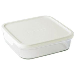iwaki イワキ 保存容器 パック&レンジ 浅型 L BOX 大 1.2L ホワイト KN3248-W|i-chie