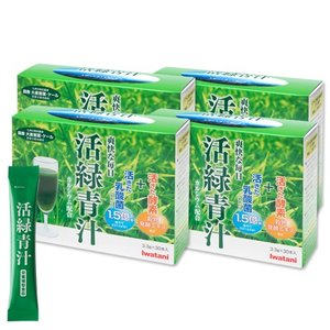 イワタニ「活緑青汁(かつりょくあおじる)4箱(3.3g×30袋入) 送料無料|i-collect