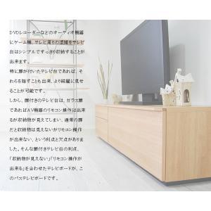 テレビ台 テレビボード ローボード 120 140 160 180 200 おしゃれ 北欧 日本製 収納 完成品 パス W NEW|i-company|02