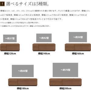 テレビ台 テレビボード ローボード 120 140 160 180 200 おしゃれ 北欧 日本製 収納 完成品 パス W NEW|i-company|15