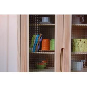 キャビネット おしゃれ 北欧 収納 リビング 木製 無垢材 杉 ナチュラル ガラス 日本製 ワッフル 70 i-company 04