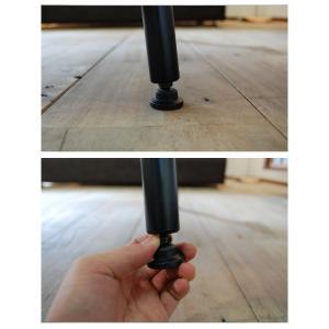 ローテーブル センターテーブル アイアン 鉄脚 おしゃれ 無垢 ウォールナット 北欧 木製 国産 サイズオーダー TEZU ローテーブル i-company 04
